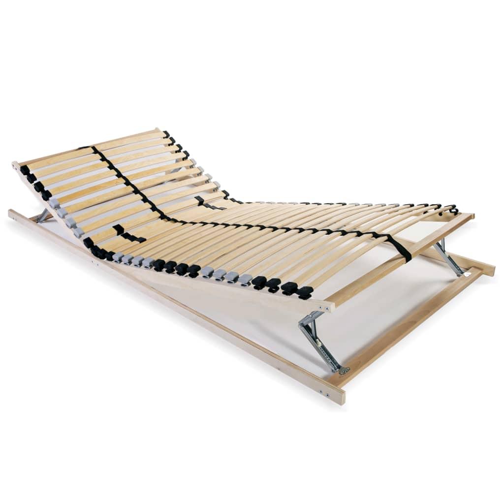 vidaXL Slatted Bed Base with 28 Slats 7 Zones 90x200 cm FSC