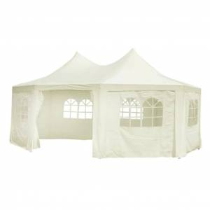 vidaXL Octagonal Party Tent White 6 x 4.4 x 3.5 m