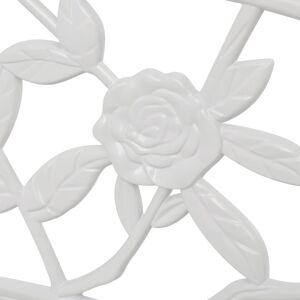 vidaXL Garden Bench 100 cm Cast Aluminium White