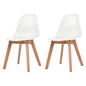 vidaXL Dining Chairs 2 pcs White