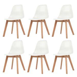vidaXL Dining Chairs 6 pcs White