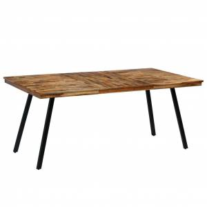 vidaXL Dining Table Reclaimed Teak and Steel 180x90x76 cm
