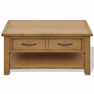 vidaXL Coffee Table 88x53x45 cm Solid Oak Wood