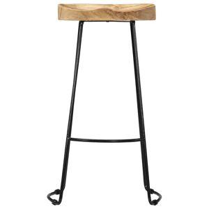 vidaXL Gavin Bar Stools 2 pcs Solid Mango Wood