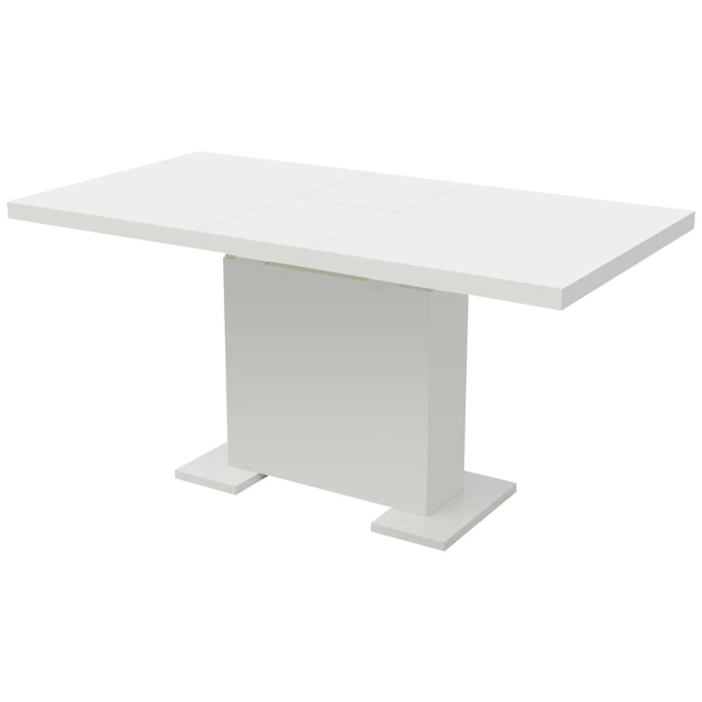 vidaXL Extendable Dining Table High Gloss White