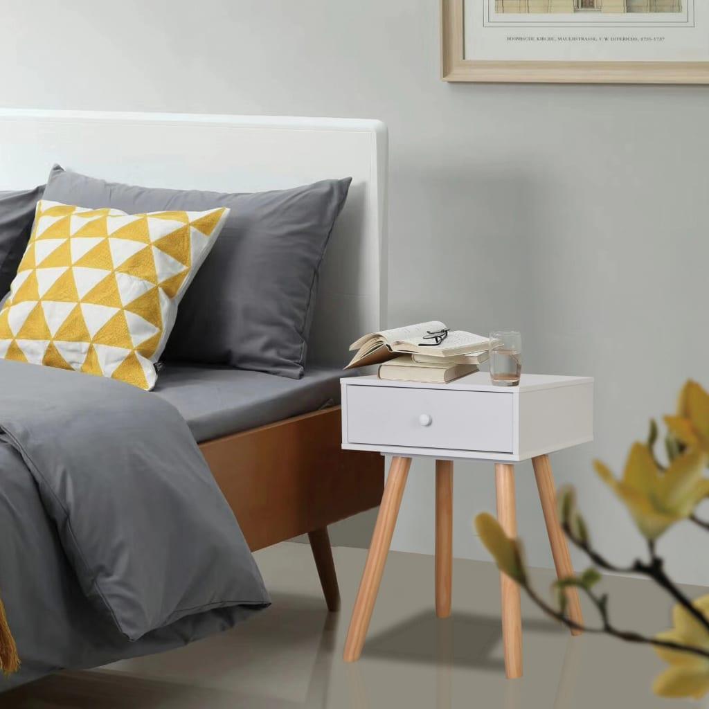 vidaXL Bedside Tables 2 pcs Solid Pinewood 40x30x61 cm White
