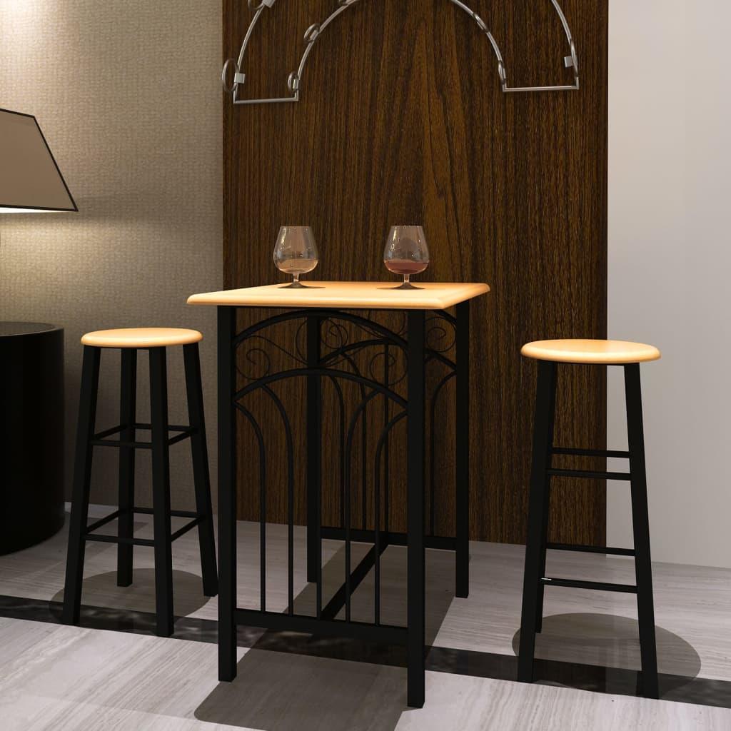 vidaXL Breakfast/Dinner Table Dining Set MDF with Black