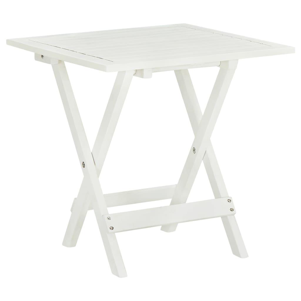 vidaXL Outdoor Coffee Table Acacia Wood White