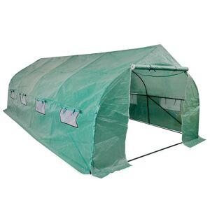vidaXL Portable Polytunnel Greenhouse Steel Frame Walk-in 18 m²