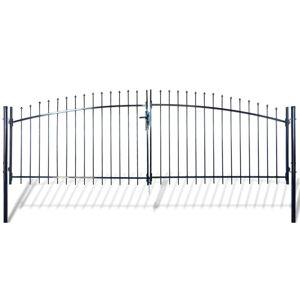 vidaXL Double Door Fence Gate with Spear Top 400 x 200 cm
