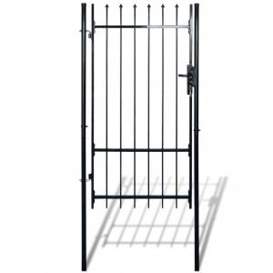vidaXL Fence Gate with Spear Top (single) 100 x 198 cm