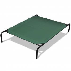 vidaXL Elevated Pet Bed with Steel Frame 130 x 80 cm