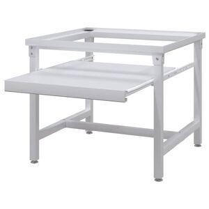 vidaXL Washing Machine Pedestal with Pull-Out Shelf White