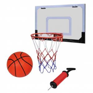 vidaXL Indoor Mini Basketball Hoop Set with Ball and Pump