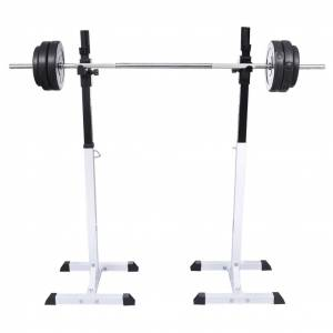vidaXL Squat Barbell Rack Set