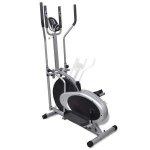 vidaXL Orbitrac Elliptical Trainer Exercise Bike 4 Pole Pulse