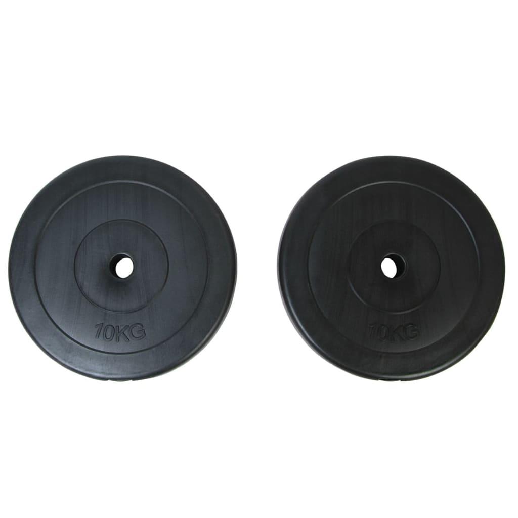 vidaXL Weight Plates 2 x 10 kg