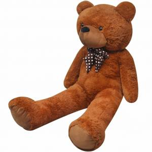 vidaXL XXL Soft Plush Teddy Bear Toy Brown 150 cm