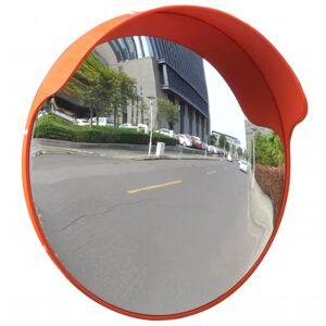 vidaXL Convex Traffic Mirror PC Plastic Orange 45 cm Outdoor