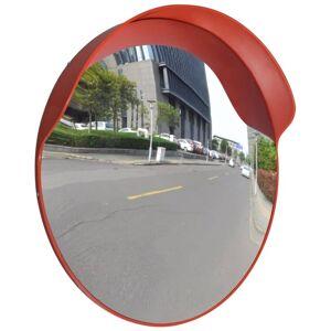vidaXL Convex Traffic Mirror PC Plastic Orange 60 cm Outdoor