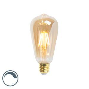 LUEDD E27 LED ST64 Gold Long Filament 5W 360LM 2200K Dimmable