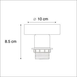 QAZQA Ceiling lamp matt black without shade - Combi