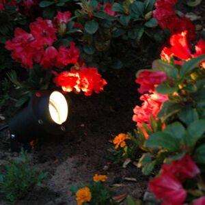 QAZQA Garden spot lamp black incl. Cord and plug IP65 - Done