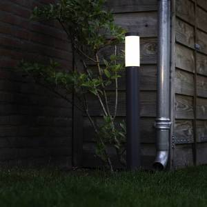 QAZQA Outdoor lamp post anthracite 80 cm IP44 - Rox