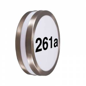 QAZQA Outdoor wall lamp stainless steel with house number IP44 - Leeds