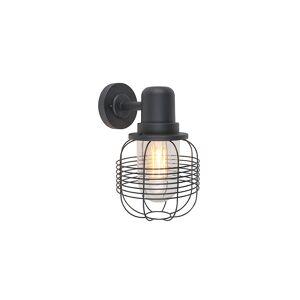 QAZQA Country Outdoor Wall Lamp Black - Guardado