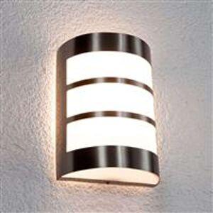 Lindby Modern semi-circular outdoor lamp stainless steel IP44 - Kristian