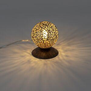 Paul Neuhaus Country Table Lamp 10cm Brown-Rust - Kreta