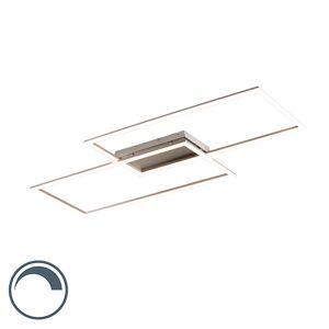 Paul Neuhaus Modern ceiling lamp steel 15W incl. LED and dimmer - Plazas 2