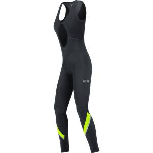Gore Wear Women's C5 Thermo Bib Tights+ - M Black/Neon Yellow