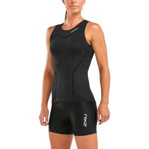 2XU Womens Active Tri Singlet - S Black/Black   Tri Tops