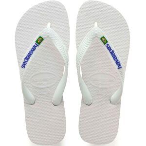 Havaianas Brazil Logo Flip Flops - 39/40 White   Flip Flops