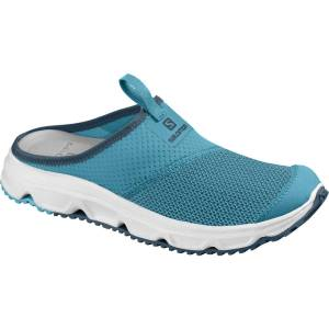 Salomon Women's RX Slide 4.0 Sandal - 6.5 Caneel Bay/Wht/Malla   Shoes