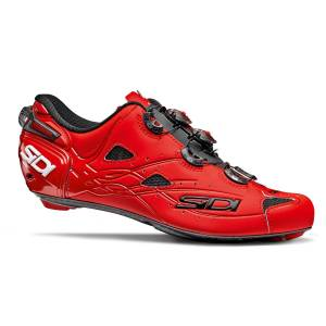Sidi Shot Matte Road Shoes - EU 45.5 Matt Red   Cycling Shoes