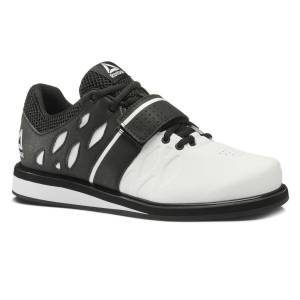 Reebok Lifter PR Shoes - UK 13 White/Black   Weight Training Shoes