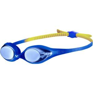 Arena Kids Spider Mirror Goggles - One Size Blue/Blue/Yellow   Goggles
