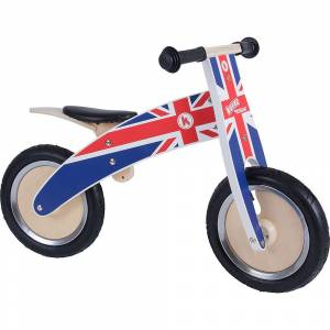 Kiddimoto Union Jack Kurve Balance Bike 2018  - Size: n/a - Gender: Unisex - Color: Red/White/Blue