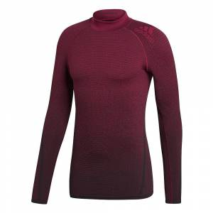 Adidas Alphaskin 360 LS SL Tee AW18  - Size: M - Gender: Unisex - Color: Noble Maroon F18