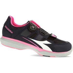 Diadora Gym W Road Shoes 2017 Black Smoke/Pink/White