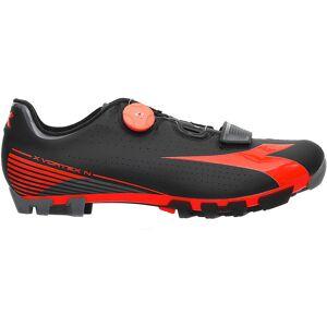 Diadora X Vortex Comp MTB SPD Shoes Black/Red Fluo