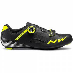 Northwave Core Plus Road Shoes 2019 Black/Yellow