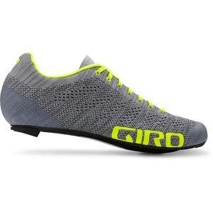 Giro Empire E70 Knit Road Shoe  - Size: EU 43 - Gender: Unisex - Color: Grey/Yellow 19