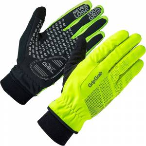 GripGrab Ride Hi-Vis Windproof Winter Glove Fluo Yellow
