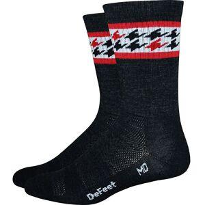 Defeet Classico Socks 2017 Charcoal/Scalet