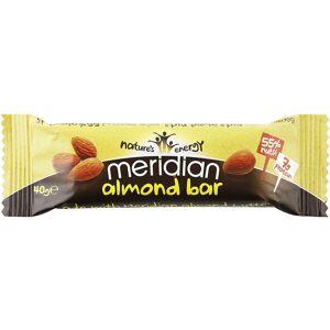 Meridian Almond Bar (18 x 40g)  - Size: 18 x 40g - Gender: Unisex - Color: n/a