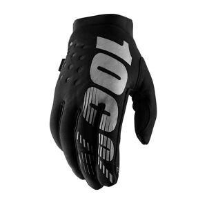 100% Brisker Youth Gloves SS19 Black/Grey